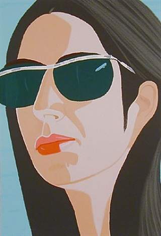 ada with sun glasses by alex katz
