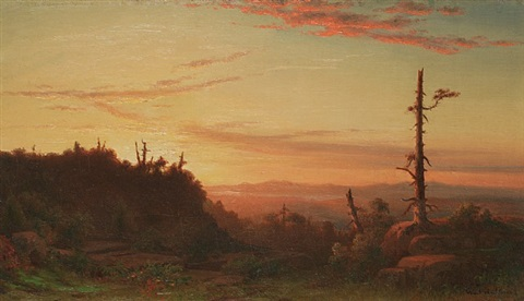 sunset by william frederick de haas