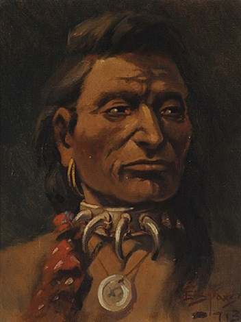 lot 190: young chief charlo by edgar samuel paxson