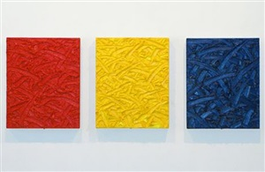 red/yellow/blue ratio triptych #5 by james hayward