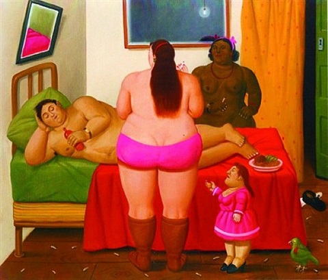 the whore house by fernando botero