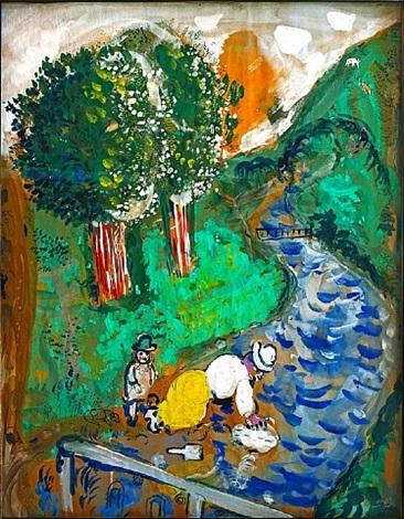 la rivière by marc chagall
