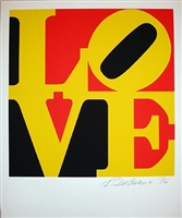 love red/yellow/black (from the portfolio love) by robert indiana