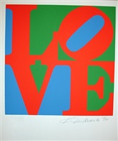 love green/red/blue (from the portfolio love) by robert indiana