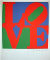 love blue/red/green (from the portfolio love) by robert indiana