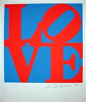 love red/blue (from the portfolio love) by robert indiana
