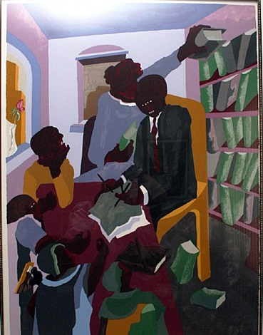 lawyers and clients by jacob lawrence