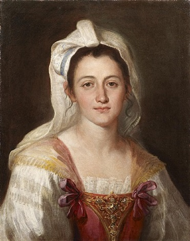 portrait of a young lady in a neapolitan costume by francesco liani