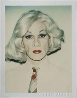 self-portrait in drag by andy warhol