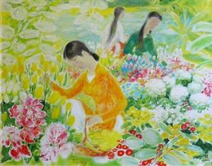 la cueillette des fleurs by le pho