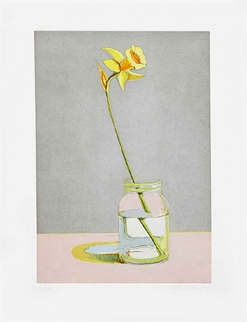 daffodil, from recent etchings i by wayne thiebaud