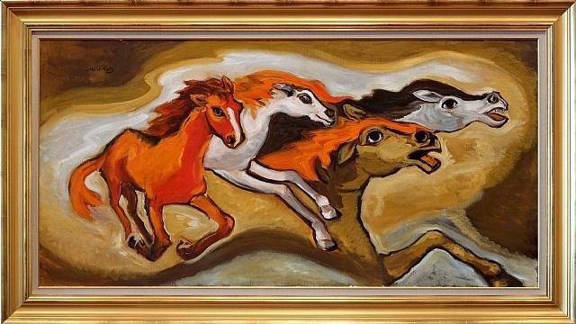 horses by mané-katz