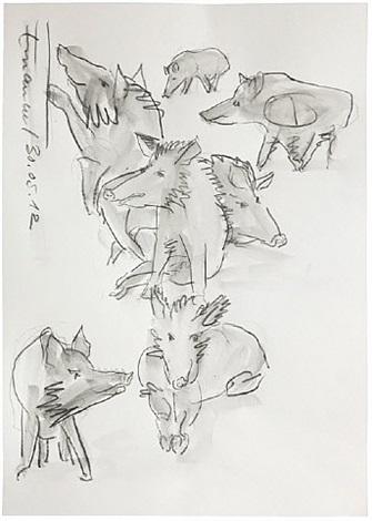 wildschweine (boars) by carl emanuel wolff
