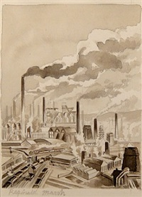 industrial landscape by reginald marsh