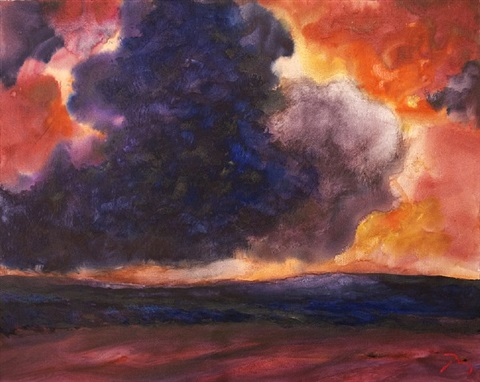 blue and purple clouds by herbert beck