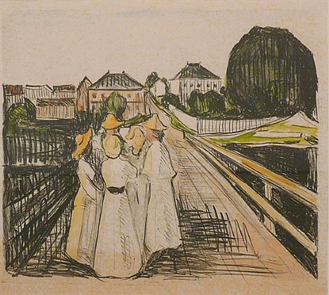 on the bridge by edvard munch