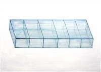 a series of glass boxes i by liao fei