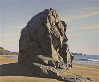 garrapata rock by david ligare