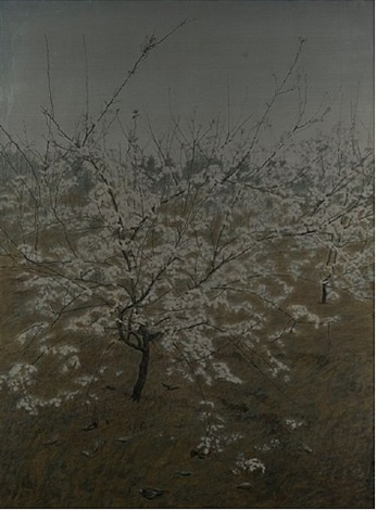 blossoming pear tree – sadness by hong lei