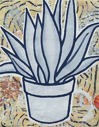 untitled (rubber plant) by donald baechler