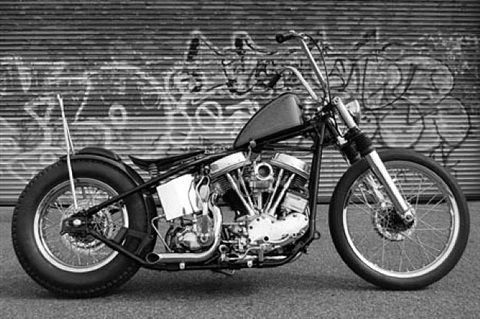 panhead motorcycle (en collaboration avec jeffrey schad and vincent szarek) by olivier mosset