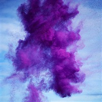 rn879 paint pigment photograph (dioxazine violet) by rob and nick carter