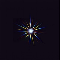 north star, enlarged diamond photogram by rob and nick carter