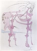 cheval en rose (visions de quevedo) by salvador dalí
