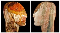 arcoiris head (two views) by emily young
