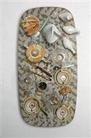 faux tableau-piège (serie: mosaiques années '50), by daniel spoerri