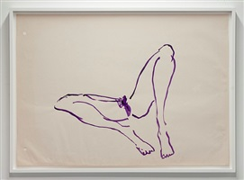 untitled (purple virgin sketch) by tracey emin