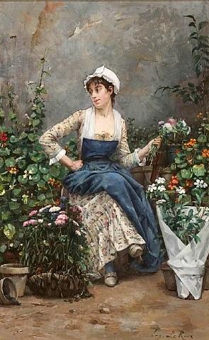 the flower seller, paris by eugène leroux