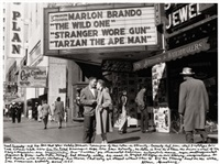 neal cassady and natalie jackson conscious of their roles in eternity, market street, san francisco by allen ginsberg