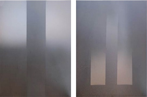 diptych by larry bell