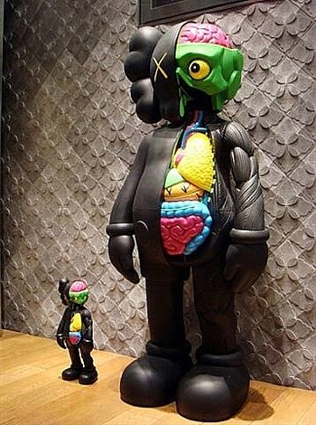 dissected companion (black) by kaws