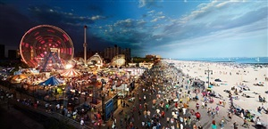 coney island, from the day to night series by stephen wilkes
