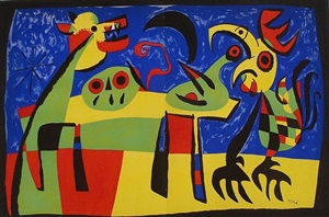 the dog barking at the moon by joan miró