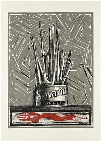savarin (grey / e.m.) by jasper johns