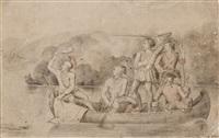 canoe scene by charles wimar