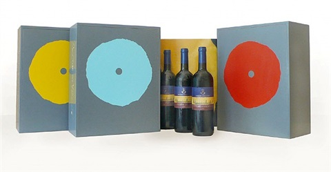 art wine box by donald sultan