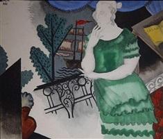 femme au balcon by jean lurçat