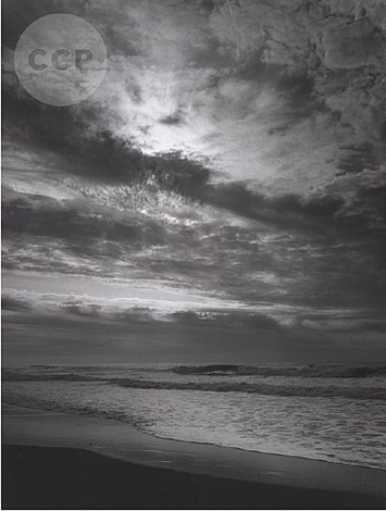 sunset, prairie creek (beach) by ansel adams