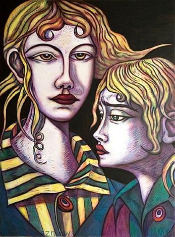 two revolutionaries by adrian wiszniewski