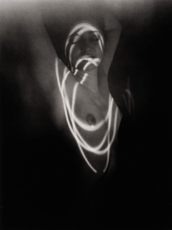 untitled nude with light circles by erich hartmann
