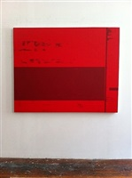 untitled (red painting)(2012-24) by mark williams