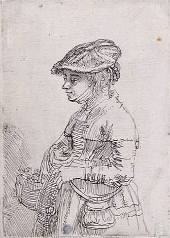girl with a basket (356903188) by rembrandt van rijn