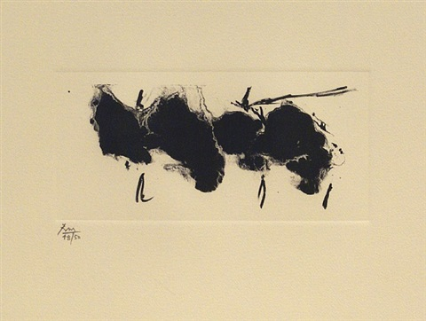 automatism elegy (state ii buff) by robert motherwell