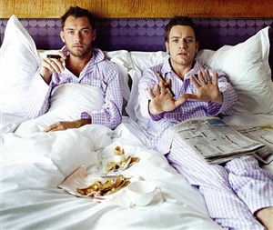 jude and ewan in bed by lorenzo agius