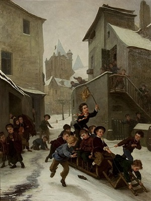 the bobsleigh by andré henri dargelas
