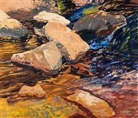 abstract riverscape by forrest moses